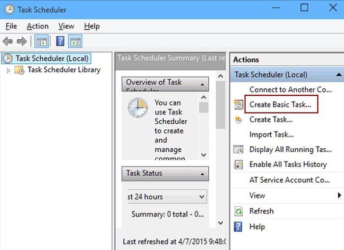 Cách hẹn giờ tắt máy qua nhiều ngày bằng Task Scheduler cho Window 10 2