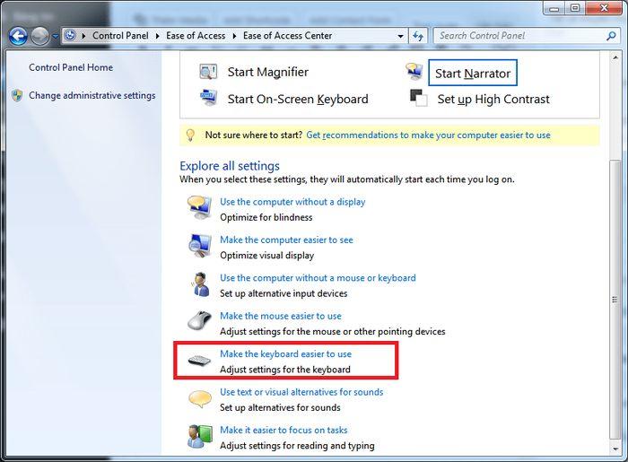 Khắc phục lỗi không gõ được phím trên Windows 7 3