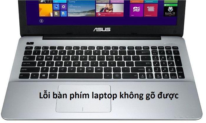 Lỗi bàn phím laptop không gõ được